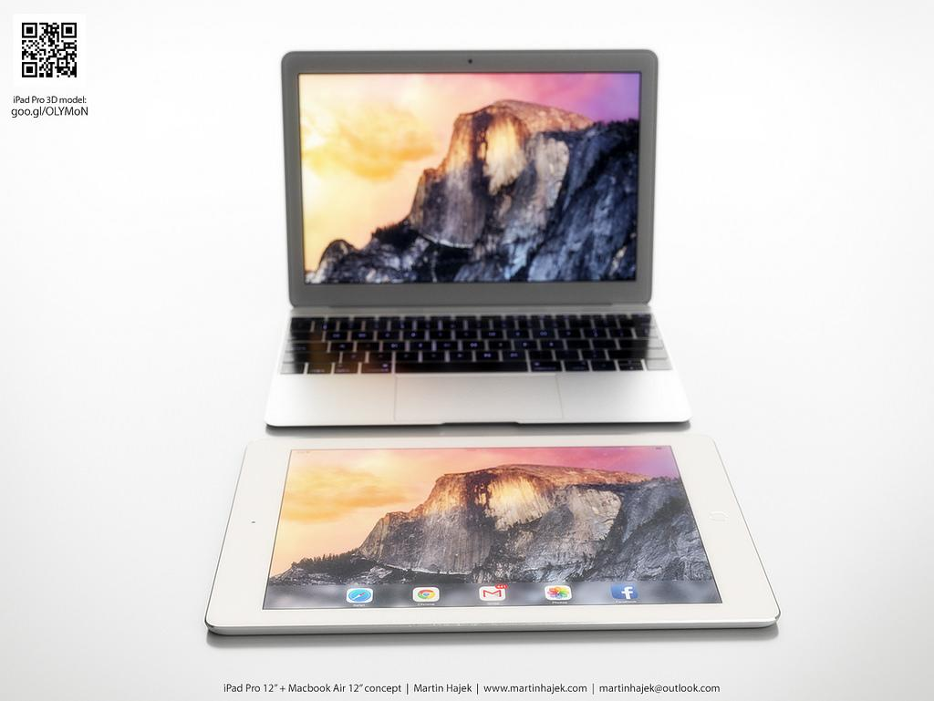Stunning renders show 12-inch MacBook Air next to 12-inch iPad Air Plus