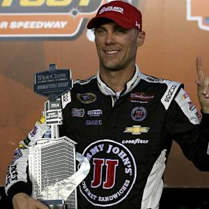 Harvick wins sixth pole of season at Atlanta