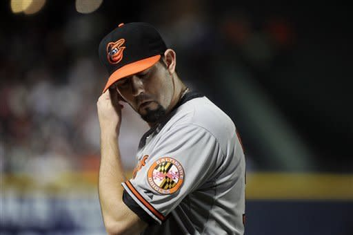Hammel pitches 1-hitter, Orioles beat Braves