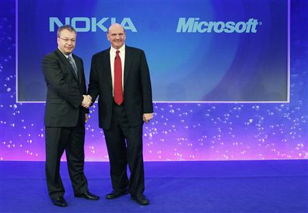 Ballmer and Elop in 2011