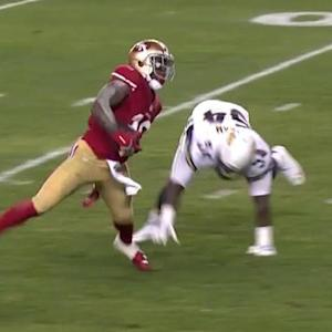San Francisco 49ers wide receiver Bruce Ellington gets in the end zone for second time