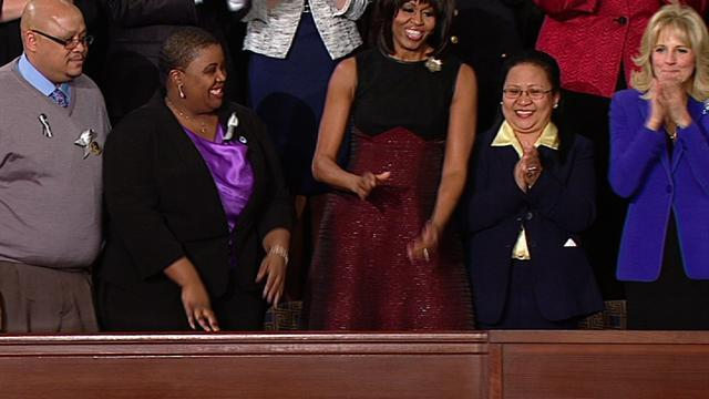 Michelle Obama's entrance at State of the Union