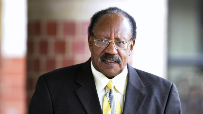 FILE - This 2009 file photo, shows Bobby Rogers, a founding member of the Miracles, in Detroit. Rogers, a collaborator with Smokey Robinson, has died. Motown Museum board member Allen Rawls said Rogers died Sunday, March 3, 2013, at his home. He was 73. Rogers and The Miracles were inducted into the Rock and Roll Hall of Fame in 2012. (AP Photo/The Detroit News, Todd McInturf) DETROIT FREE PRESS OUT; HUFFINGTON POST OUT.