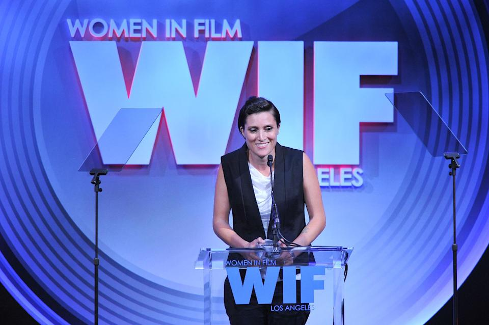 Filmmaker Rachel Morrison attends the Women in Film's 2013 Crystal + Lucy Awards at The Beverly Hilton Hotel on Wednesday, June 12, 2013 in Beverly Hills, Calif. (Photo by Vince Bucci/Invision/AP)