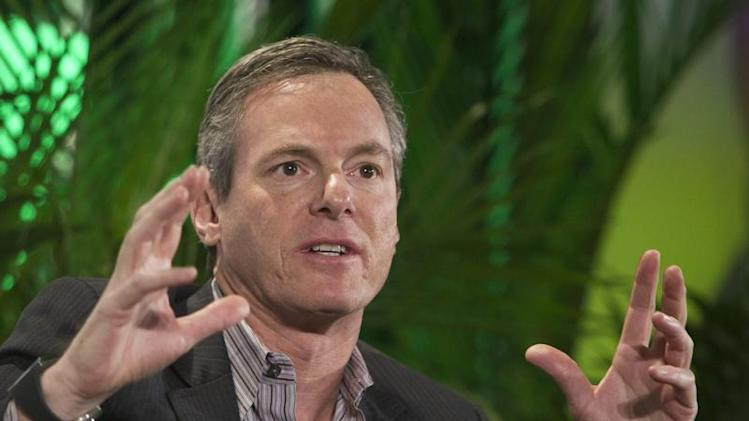 Paul Jacobs, chairman and CEO of Qualcomm, speaks during a panel discussion at the 2014 International Consumer Electronics Show (CES) in Las Vegas