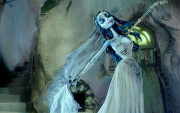 The Corpse Bride (voiced by Helena Bonham Carter ) in Warner Bros. Pictures' stop-motion animated film Tim Burton's Corpse Bride
