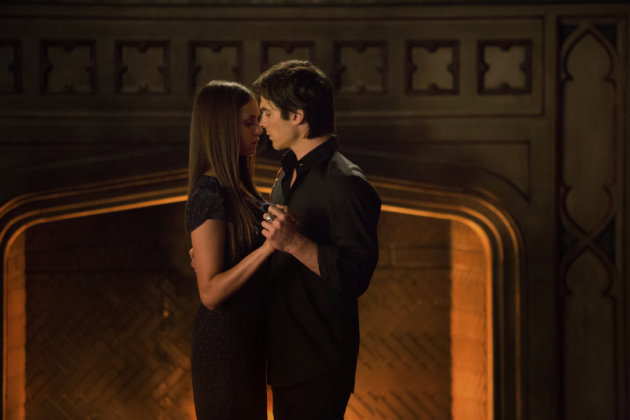 "Nina Dobrev as Elena and Ian Somerhalder as Damon in ""My Brother's Keeper,"" the seventh episode of ""The Vampire Diaries"" Season 4."