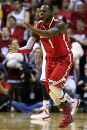 No. 14 Buckeyes pull away from No. 2 Indiana 67-58