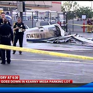 Plane crashes in Kearny Mesa parking lot