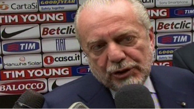 "Serie A - Napoli president says Italian football needs a ""revolution"""
