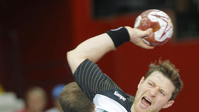 . Lusail (Qatar), 31/01/2015.- Germany's Martin Strobel in action during the Qatar 2015 24th Men's Handball World Championship match for the 7th place between Germany and Slovenia at the Lusail Multipurpose Hall outside Doha, Qatar, 31 January 2015. Qatar 2015 via epa/Robert Ghement Editorial Use Only/No Commercial Sales