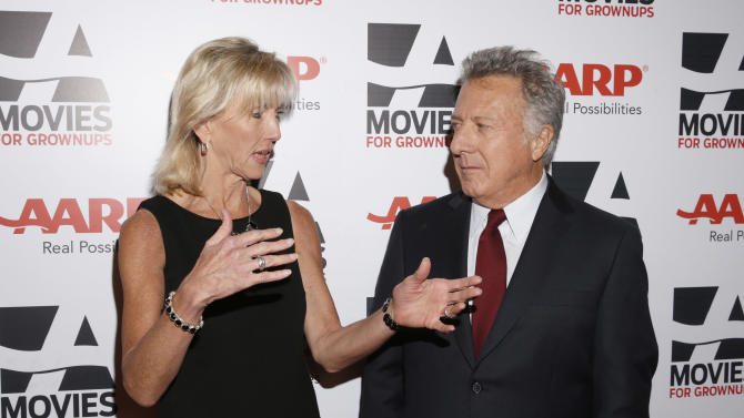 AARP Magazine's Editor in Chief Nancy Perry Graham Dustin Hoffman attend AARP The Magazine's 12th Annual Movies for Grownups Awards at The Peninsula Hotel on February 12, 2013 in Beverly Hills, California. (Photo by Todd Williamson/Invision for AARP Magazine/AP Images)