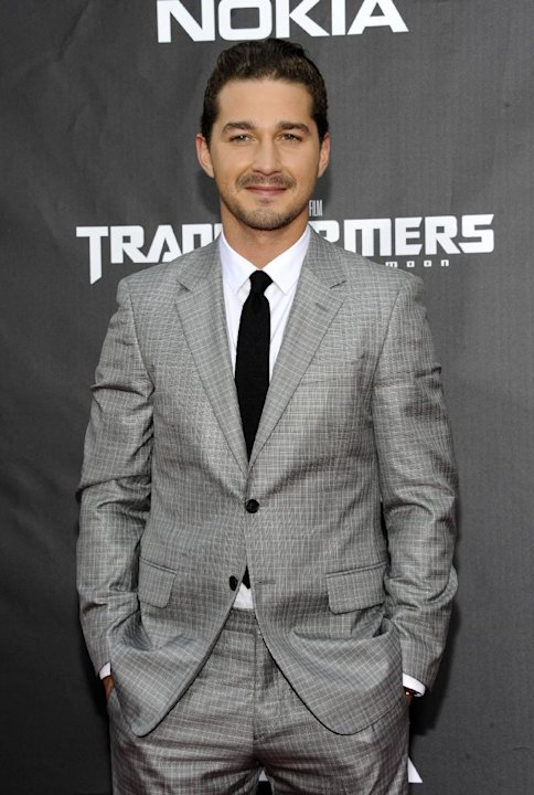 "FILE - This June 28, 2011 file photo shows actor Shia LaBeouf attending the ""Transformers: Dark of the Moon"" premiere in Times Square in New York. LaBeouf will join fellow actor Alec Baldwin as he mak"