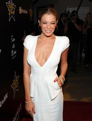 LeAnn Rimes steps out in a low-cut dress at the 5th Annual Hollywood Domino Gala & Tournament presented by Bovet 1822 at the Sunset Tower Hotel in Los Angeles on February 23, 2012  -- Getty Images