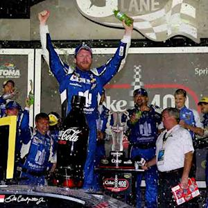 Junior celebrates after dominating Daytona