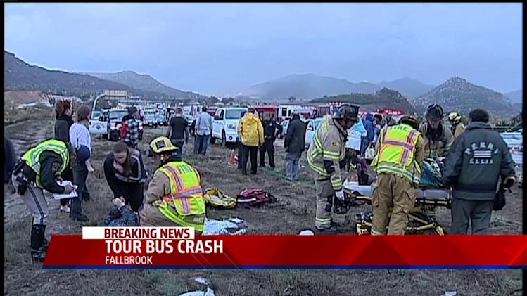 Tour Bus Crash Kills 1, Injures Dozens
