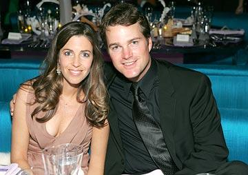 Chris O'Donnell with wife Caroline Fentress InStyle/Warner Bros. Golden Globes Party The Palm Court at the Beverly Hilton - Beverly Hills, CA - 1/16/05