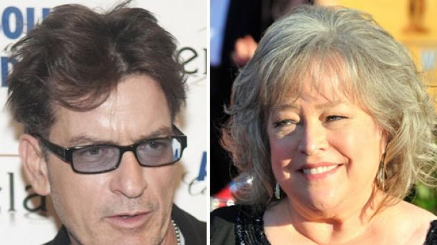 Charlie Sheen / Kathy Bates -- Getty Images
