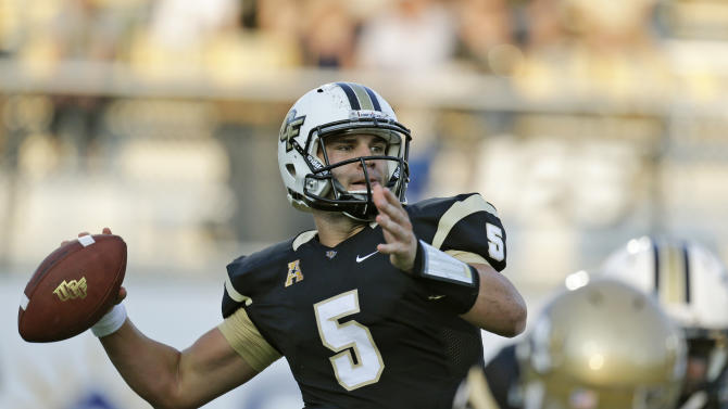 UCF passing attack too much for Akron in 38-7 win