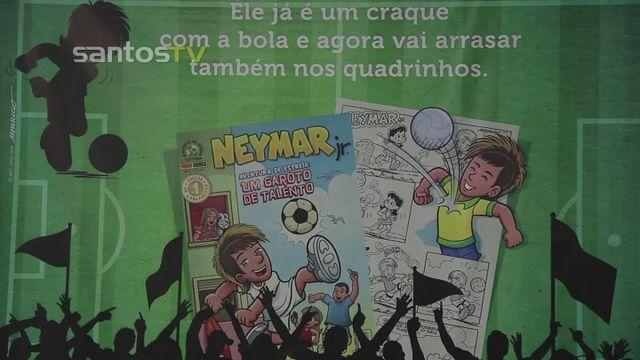Neymar transformed into comic book character