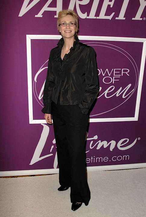 Jane Lynch arrives at Variety's 1st Annual Power of Women Luncheon at the Beverly Wilshire Hotel on September 24, 2009 in Beverly Hills, California.