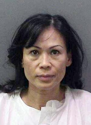 This image provided by the Orange County District Attorney's office shows a booking photo of Catherine Kieu Becker. Becker was in custody Tuesday after authorities said she drugged her estranged husband, tied him to a bed, cut off his penis and put it through a garbage disposal. (AP Photo/Orange County District Attorney)