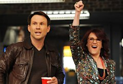 Christian Slater and Megan Mullally | Photo Credits: Ray Mickshaw/Fox