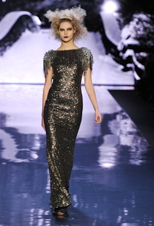 Badgley Mischka's beaded gowns are to die for