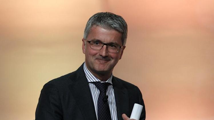 Audi CEO Stadler reacts during car summit organized by business newspaper Handelsblatt in Munich