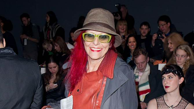 Designer Patricia Field is seen at the Fall 2013 Betsey Johnson Runway Show at Fashion Week in New York, Monday, February, 11, 2013. (Photo by Ben Hider/Invision/AP)