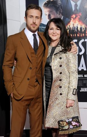 Ryan Gosling and mom Donna arrive at the Los Angeles premiere of 'Gangster Squad' at Grauman's Chinese Theatre on January 7, 2013 in Hollywood, Calif. -- Getty Premium