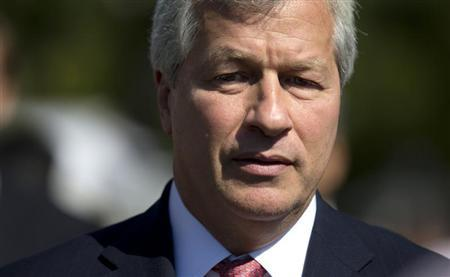 Chairman and CEO of JP Morgan Chase Dimon arrives at the White House in Washington