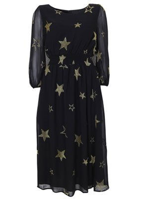 Topshop gold star print black …