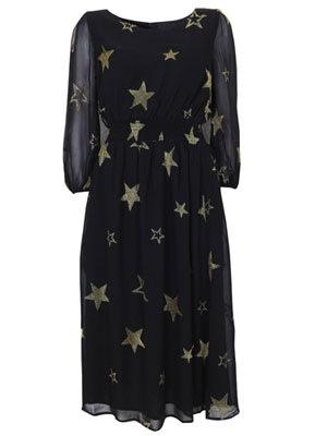 Topshop gold star print black…