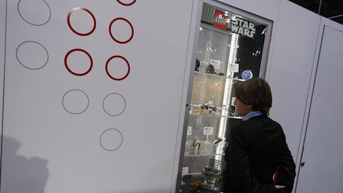 New LEGO products are unveiled at the LEGO booth at American International Toy Fair in on February 10, 2012, in New York City. (Brian Ach/AP Images for LEGO Systems, Inc.)