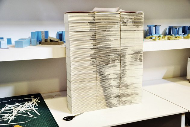 Meet Hong Yi :  Artist who carved Zuckerberg&amp;#39;s face from books