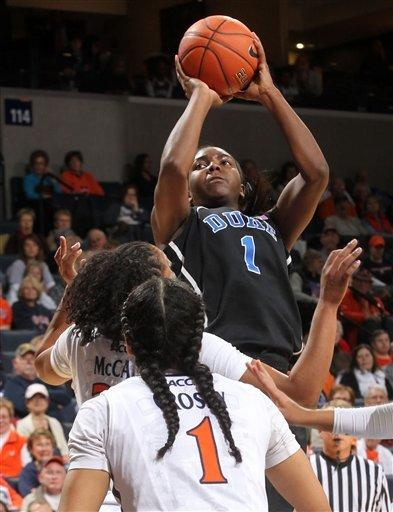 Peters leads No. 5 Duke past Virginia 62-41