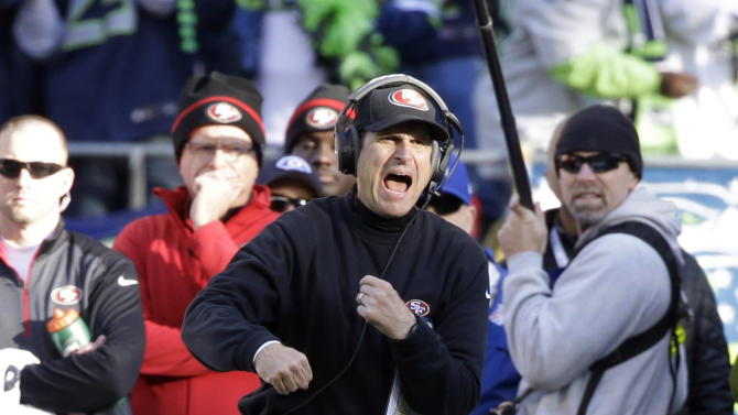 49ers' Harbaugh mum on reported offer