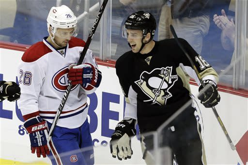 Penguins rough up Canadiens 6-4