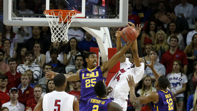 Moore, Russell lead SMU past LSU in NIT
