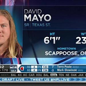 Carolina Panthers pick linebacker David Mayo No. 169 in 2015 NFL Draft