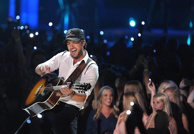 Musician Luke Bryan performs at the 2012 CMT Music Awards on Wednesday, June 6, 2012 in Nashville, Tenn. (Photo by John Shearer/Invision/AP)