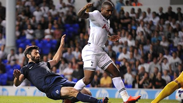 Tottenham Hotspur's Jermaine Defoe scores his sides second goal of the game against Dinamo Tbilisi (PA Photos)