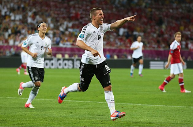 Lukas Podolski Of Germany Celebrates Getty Images