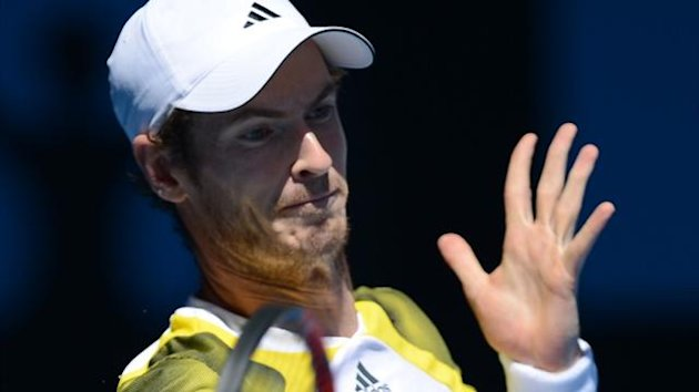 Britain&#39;s Andy Murray plays a return to Dutchman Robin Haase at the Australian Open in Melbourne (AFP)