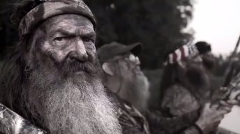 A still from Mossberg's new Duck Commander campaign starring Phil Robertson.