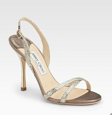 Jimmy Choo metallic shoes, $465, at Saks 5th Ave