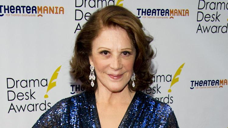 "FILE - This June 3, 2012 file photo shows actress Linda Lavin at the 57th Annual Drama Desk Awards in New York. Lavin and Debbie Gravitte are headlining the third annual concert to benefit the Pulmonary Fibrosis Foundation. The event set for Feb. 25, 2013, at Birdland Jazz Club will also feature actress Emily Bergl from ""Cat on a Hot Tin Roof"" and singer Max von Essen, from ""Evita.""  (Photo by Charles Sykes/Invision/AP, file)"