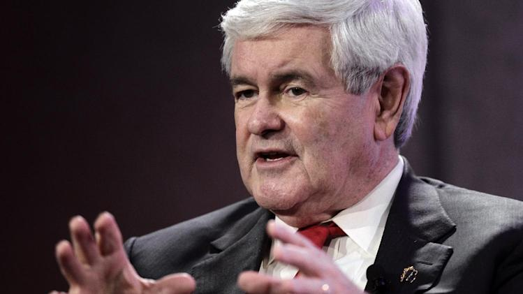 Republican presidential candidate, former House Speaker Newt Gingrich, speaks at the Personhood USA forum in Greenville, S.C., Wednesday, Jan. 18, 2012.  (AP Photo/Paul Sancya)