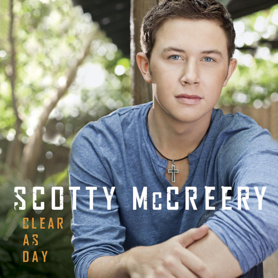"In this CD cover image released by Mercury Nashville/19 Recordings/Interscope Records, the latest release by Scotty McCreery ""Clear as Day"" is shown. (AP Photo/Mercury Nashville/19 Recordings/Interscope Records)"